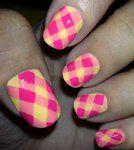 Neon Plaid Nails - deviantART.