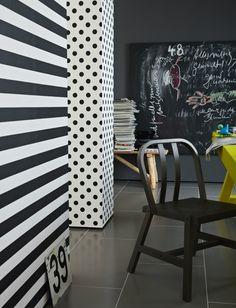B + W polka dot wallpaper Schöner Wohnen 3
