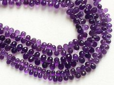 African Amethyst Faceted TearDrop Beads Amethyst by gemsforjewels