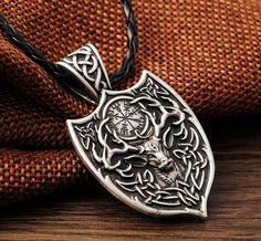 Valknut Odin 's Symbol Of Norse Viking Warriors Men's Silver Pendant Necklace