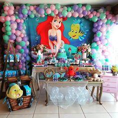Mermaid Theme Birthday, Kids Birthday Themes, Little Mermaid Birthday, Little Mermaid Parties, Baby 1st Birthday, Birthday Party Decorations, Birthday Parties, Minecraft Birthday Party, Mermaid Birthday