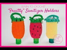 Crochet Case, Crochet Purses, Free Crochet, Diy Crochet Projects, Crochet Crafts, Sewing Projects, Hand Sanitizer Holder, Crochet Keychain, Alcohol