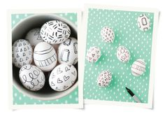 Decorate Your Easter Eggs with a Felt-Tip Marker