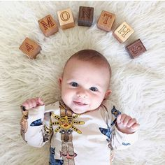 Smiles for your Saturday!    Milestone Blocks Bannor Toys  Modern Wood Toys for Your Little Ones!