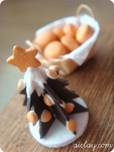Miniature Christmas chocolate tree