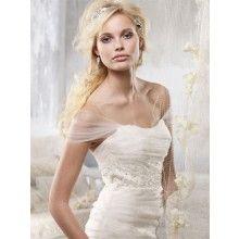 Alvina Valenta 2012 Bridal Romantic Off-the-shoulder Flare Tulle Organza Wedding Dress