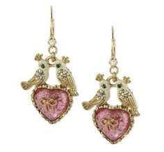 'Authentic Betsey Johnson Lovebird Earrings' is going up for auction at  1pm Sat, May 18 with a starting bid of $5.