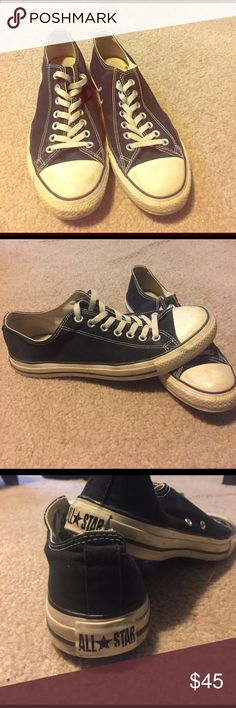 Black converse chuck taylors. Women 9.5, men 11.5 Lightly used black chug Taylor converse all stars. Great condition and have a ton of life left in them! Converse Shoes Athletic Shoes