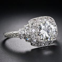 1.44 Carat Art Deco Diamond Ring - 10-1-4891 - Lang Antiques