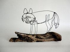 Fox Wire Sculpture