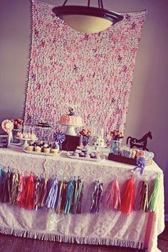 Beautiful vintage dessert table
