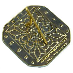 Rome 2375 Romanesque Sundial, Solid Brass with Verdigris Highlights, Diameter Sundial, Wood Resin, Romanesque, Totoro, Solid Brass, Louis Vuitton Monogram, Rome, Great Gifts, Antiques