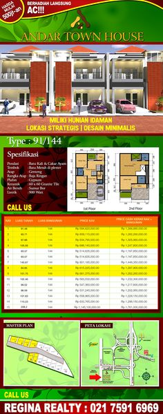 "Sisa 9 Unit,CEPAT, SEBELUM KEHABISAN!!! ""Regina Realty offers you the opportunity  of making your dream come true with us.  We work hard to try to understand what you need and for us your satisfaction is our goal.  Please call our office for a private and  confidential discussion today!"" www.reginarealty.co.id"