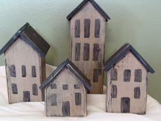 Saltbox Houses by grubbyprimitives on Etsy, $12.00