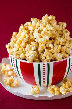 Salted Caramel Popcorn (the chewy sticky kind) - this is highly addictive! Perfect for gifts and holiday parties!