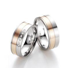 #Alianzas boda  TeNoAnillo #Acero inoxidable antialérgico Banda Oro rosa de Ley Interior confort Ref: 068.2200.D30RG.XX