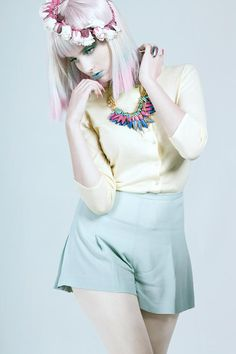 """Pastel""    Makeup and Nails & Hair I did recently for a shoot, wig supplied by Wasp Hair Australia"