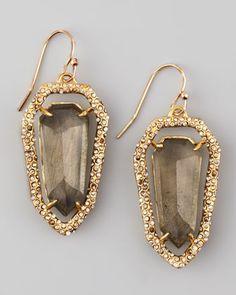 Encrusted Pyrite Shield Earrings by Alexis Bittar at Bergdorf Goodman.