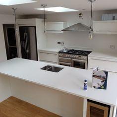 Bianco Puro- Hertford, Herts - Rock and Co Granite Ltd Kitchen Island, Home Decor, Island Kitchen, Decoration Home, Room Decor, Interior Decorating