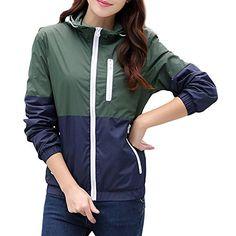 e1b697fd5ebf5 FUDITAI Women's Outdoor Lightweight Active Hoodies Quilted Windbreaker Coat  (Armygreen)L Quick Dry,
