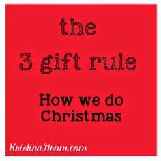 We honor Christmas by giving our kids 3 gifts that are all fun.