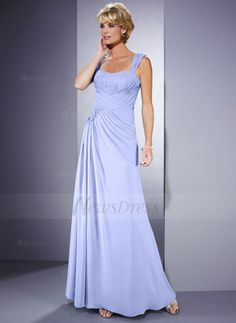 A-Line/Princess Sweetheart Floor-Length Ruffle Beading Flower(s) Sequins Chiffon Zipper Up Cap Straps Sleeveless No Lavender Spring Summer General Mother of the Bride Dress