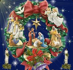 Merry Christmas with love from Me to You Merry Christmas Jesus, Christmas Nativity Scene, Christmas Scenes, Noel Christmas, Merry Christmas And Happy New Year, Christmas Wishes, Christmas Greetings, Vintage Christmas, Christmas Wreaths