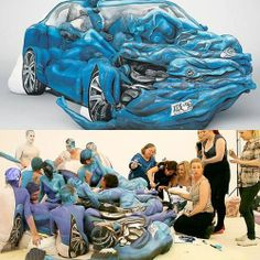 Amazing body painting by famous artist Emma Hack. | See More Pictures