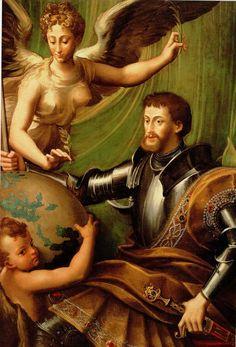 Il Parmigianino. Imagen alegórica de  Carlos v