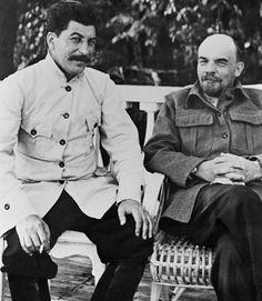 Joseph Stalin and Vladimir Lenin