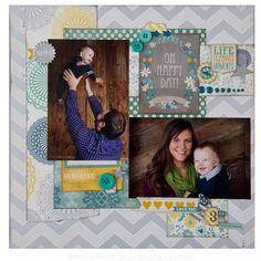 my mind's eye now and then milo scrapbook layouts - Google Search