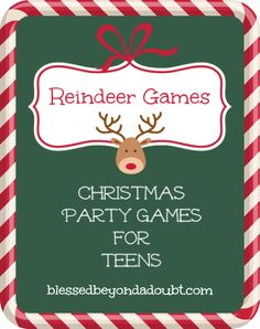 5 Kids Christmas Party Games for Teens Ideas Christmas Party Games For Kids, Printable Christmas Games, Xmas Games, Holiday Games, Xmas Party, Christmas Activities, Christmas Traditions, Holiday Fun, Christmas Parties