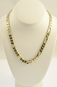 Gold Chains For Men Yellow Gold Figaro Chain mm Width 14 Inch Long Grams) by RG Jewelry Shop, Gold Jewelry, Jewelery, Gold Necklace, Chain Jewelry, Unique Jewelry, Fashion Rings, Fashion Jewelry, Men Fashion