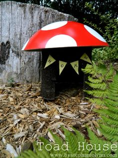 Under The Table and Dreaming: Make a Toad House from a Recycled Container - Fun Garden Project for the Kids