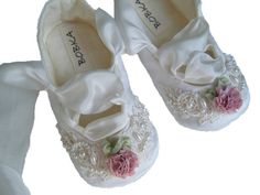 Organic+Ballet+ShoesBaby+Girl+ShoesFlower+Girl+Shoes+by+BobkaBaby