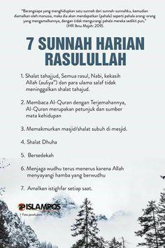 7 sunnah harian Rasulullah Hadith Quotes, Allah Quotes, Muslim Quotes, Quran Quotes, Beautiful Islamic Quotes, Islamic Inspirational Quotes, Reminder Quotes, Self Reminder, Islam Muslim
