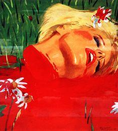 """Ladybird"", 1996 Владимир Дубосарский -Александр Виноградов (Vladimir Dubossarsky & Alexander Vinogradov) Russian contemporary art http://contemporary-artists.ru/Vladimir_Dubossarsky.html"