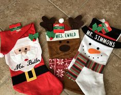 Holiday Personalized Stockings