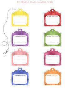 FREE printable tags / Sildid moosipurkidele