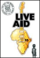 """Live Aid was a dual-venue concert held on 13 July The event was organised by Bob Geldof and Midge Ure to raise funds for relief of the ongoing Ethiopian famine. Billed as the """"global jukebox. Rock Roll, Midge Ure, Mundo Musical, Bob Geldof, Nostalgia, Live Aid, Any Music, Music Images, Poster S"""