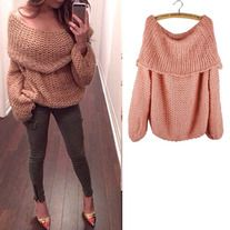 New boat neck sweater  Size: free size