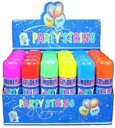 Crazy String, Party String, not Silly String (Box of 24 Cans) $25.48 (save $22.51)