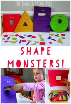 Feed the Hungry Shape Monsters Sorting Game - The Imagination Tree