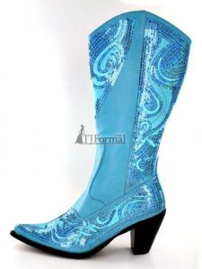 Helens Heart Turquoise Sequin Cowboy Boots! | Fashion Shoes ...