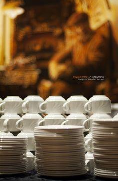 Coffee/Tea station Tea Station, Utensils, A Table, Table Settings, Coffee, Eat, Tableware, Kaffee, Dinnerware