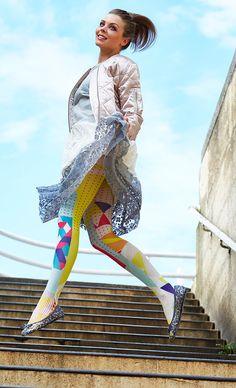 TheHumanMade original design graphic fashion tights unique gift special gifts for women popart Joy Lichtenstein
