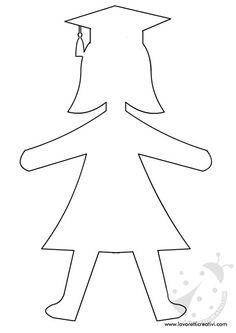 Sagome di bambini con tocco che potete stampare e utilizzare come volete! Per salvare l'immagine cliccate sul disegno con il tasto destro del mouse e andat Graduation Crafts, Preschool Graduation, Graduation Decorations, School Decorations, Crafts To Make, Crafts For Kids, Activities For Kids, Pancake Art, Diy Backdrop