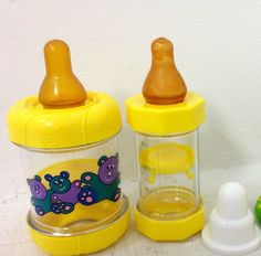 Sassy Baby Bottle Infant Feeder for Food/Cereal. BPA Free Yellow RARE VINTAGE!  #Sassy