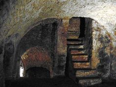 Part of the 25 miles of interlinking cellars and tunnels beneath the Medieval German city of Oppenheim.