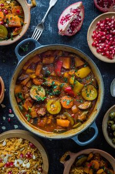 Vegetable tagine with almond and chickpea couscous – an easy, healthy, filling vegetarian/vegan meal with tonnes of flavour.